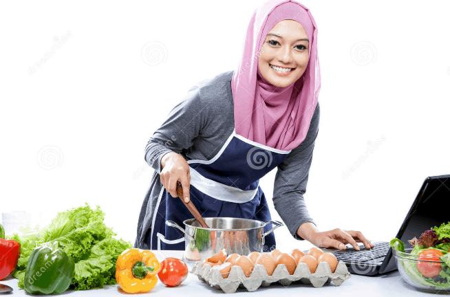 Wanita Muslimah Masak
