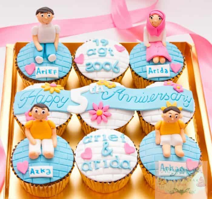 Hadiah Ulang Tahun Keluarga Cup Cake