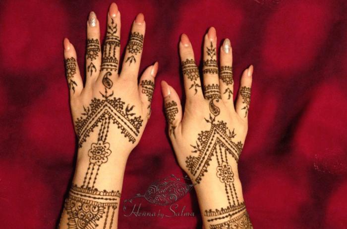 Desain Henna Henna Pengantin Simple Dan Cantik