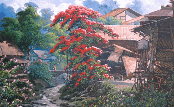 Gambar Pemandangan Desa