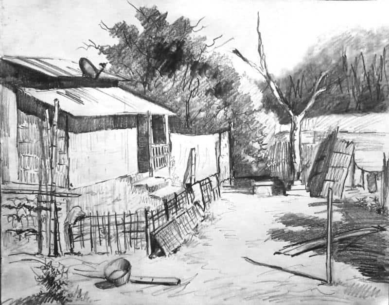 Gambar Sketsa Desa