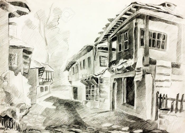 gambar Sketsa Kantor Desa