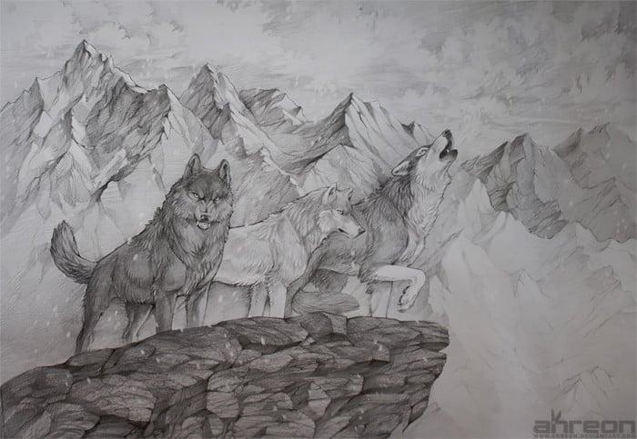 Gambar Sketsa Gunung