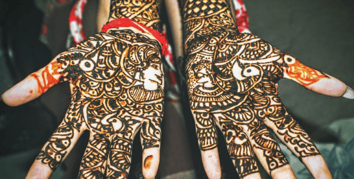 Gambar Henna Pengantin Sederhana