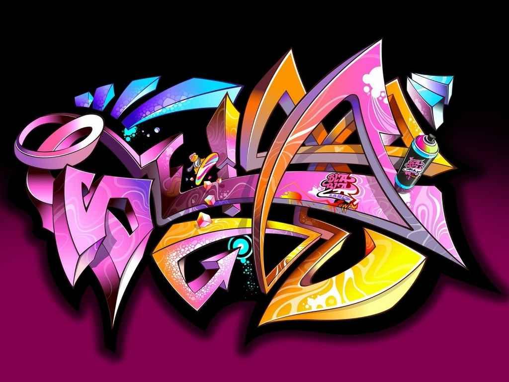 150 Gambar Grafiti Tulisan Huruf Nama 3D