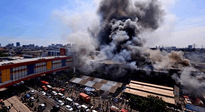 Foto Kebakaran Pasar Senen