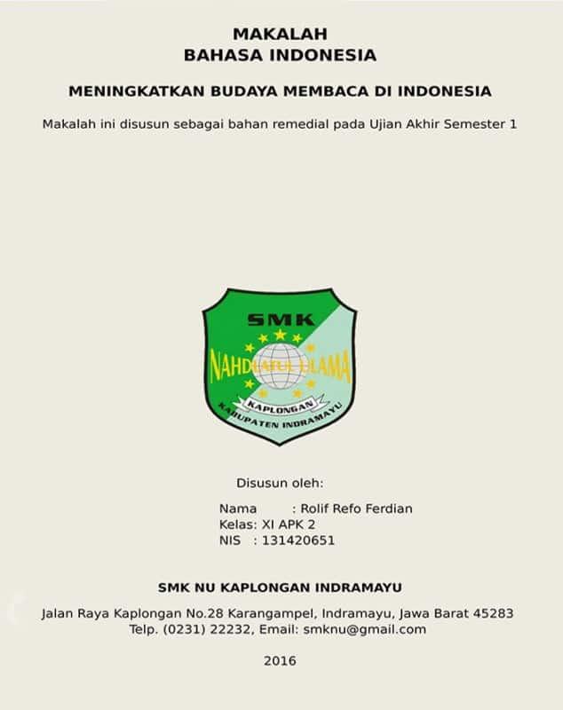 Cover Makalah - Sahabatnesia