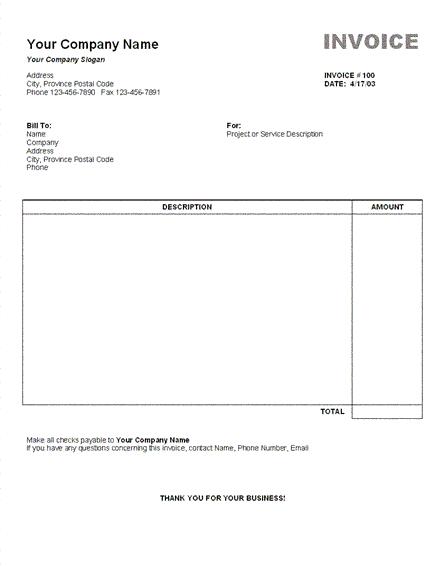 7 Contoh Invoice Faktur Tagihan Yang Sederhana Beserta