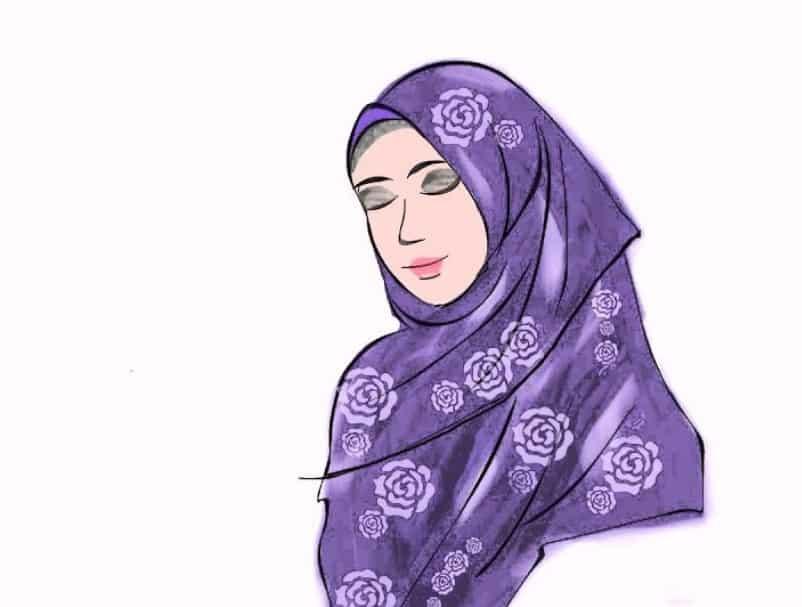 30 Gambar Kartun Muslimah Bercadar Syari Cantik Lucu Terbaru