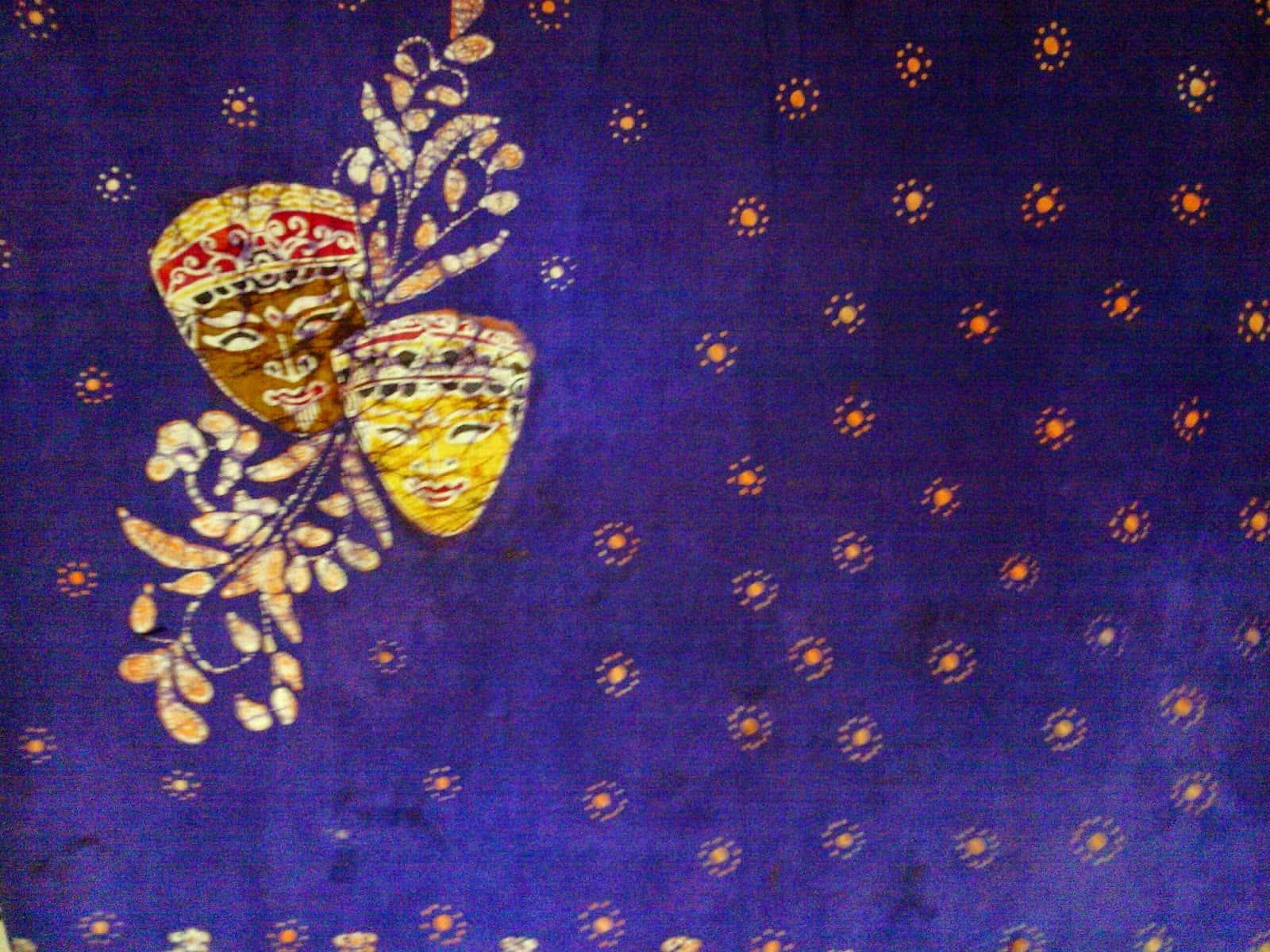 gambar Batik Topeng Malangan