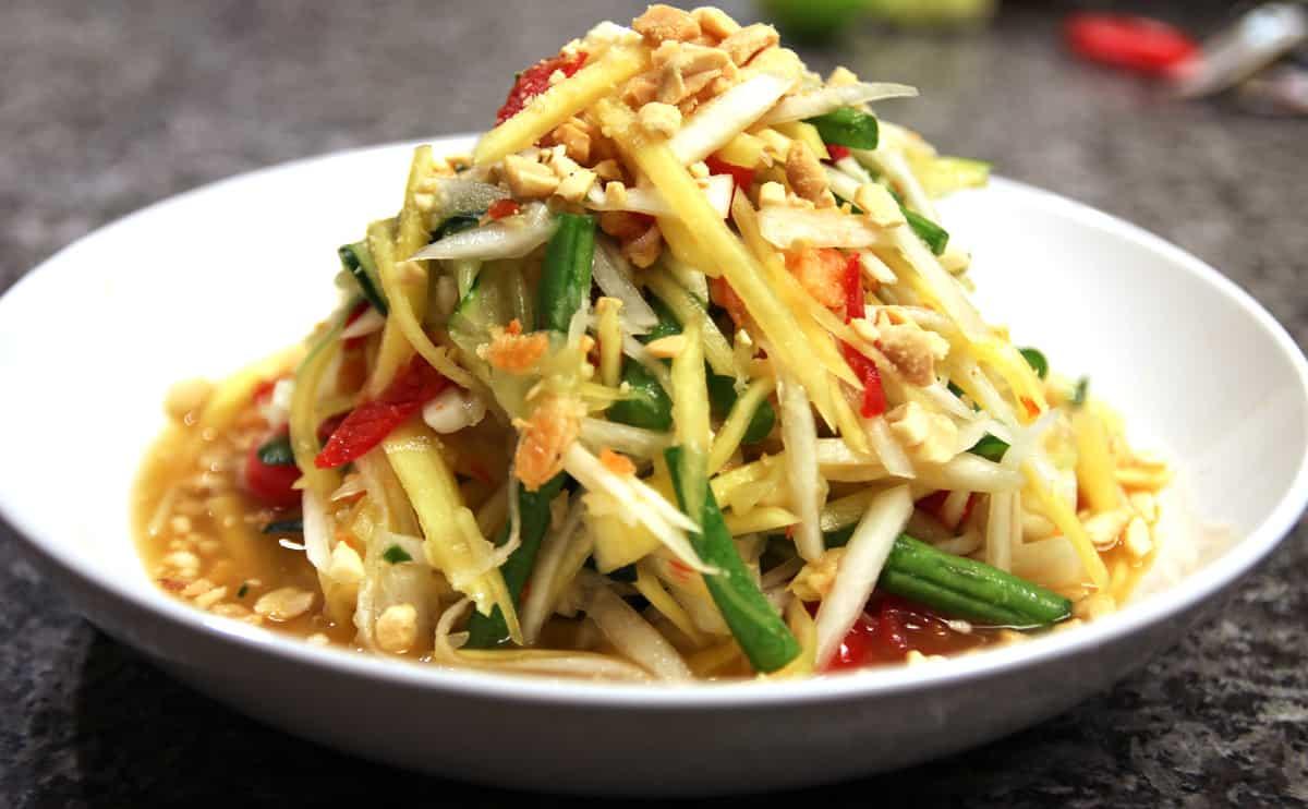 gambar makanan khas thailand Som Tam