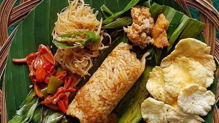 gambar makanan khas banten nasi bakar sum sum