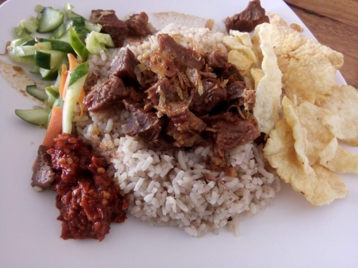 gambar makanan khas banten nasi gonjleng