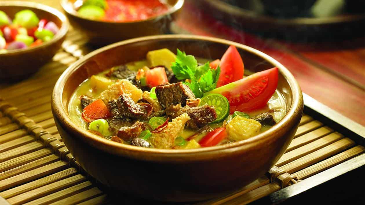 gambar makanan khas betawi soto betawi