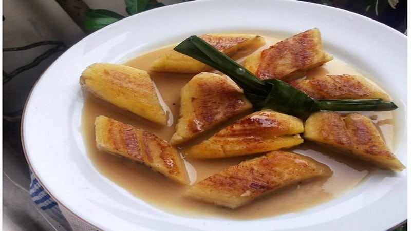 gambar makanan khas kalimantan timur Pisang Gapit