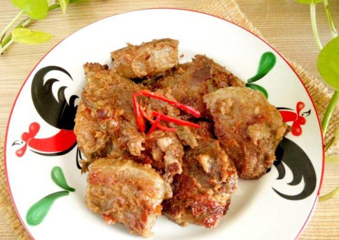 gambar makanan khas riau bacah daging