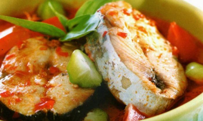 gambar makanan khas riau ikan cuka