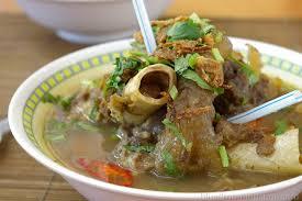 gambar makanan khas riau sup tunjang
