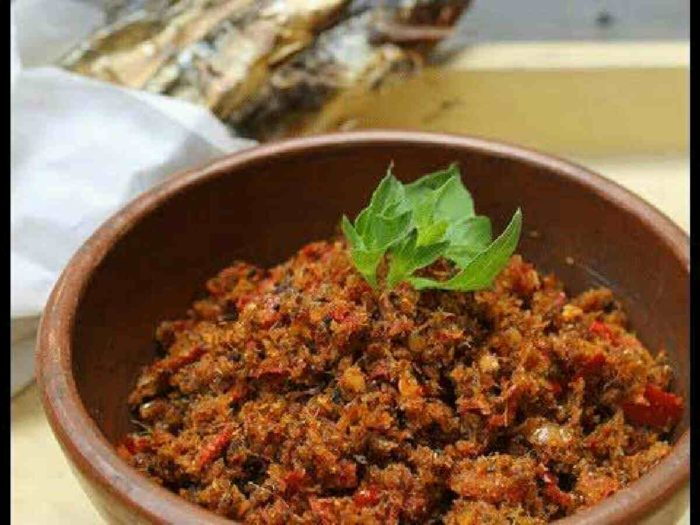 gambar makanan khas sulawesi utara sambal roa