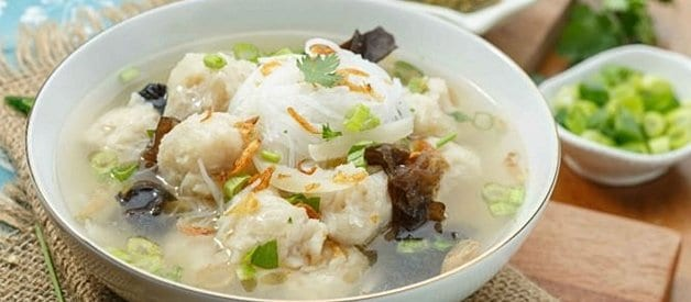 gambar makanan khas sumatera selatan tekwan