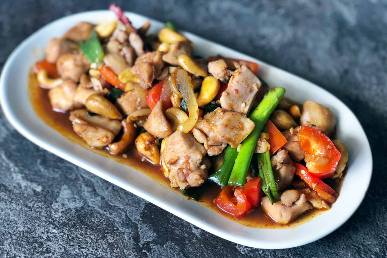 gambar makanan khas thailand Kai Phad Med Ma Muang