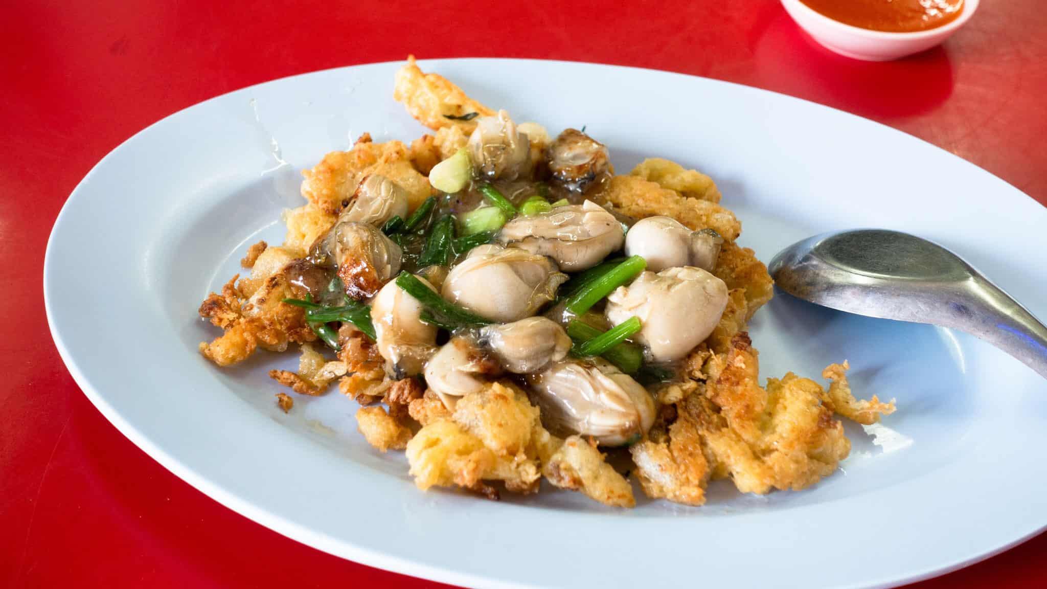 gambar makanan khas thailand Nai Mong Hoy Tod