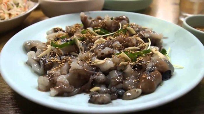 gambar makanan korea Sannakji