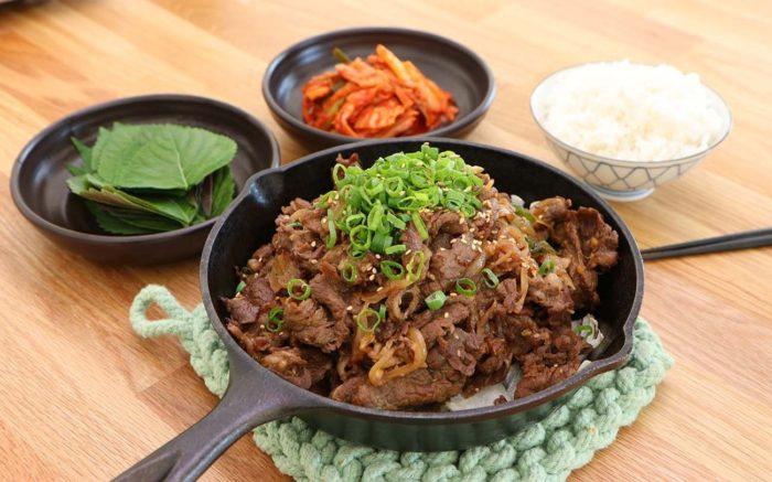 gambar makanan korea bulgogi