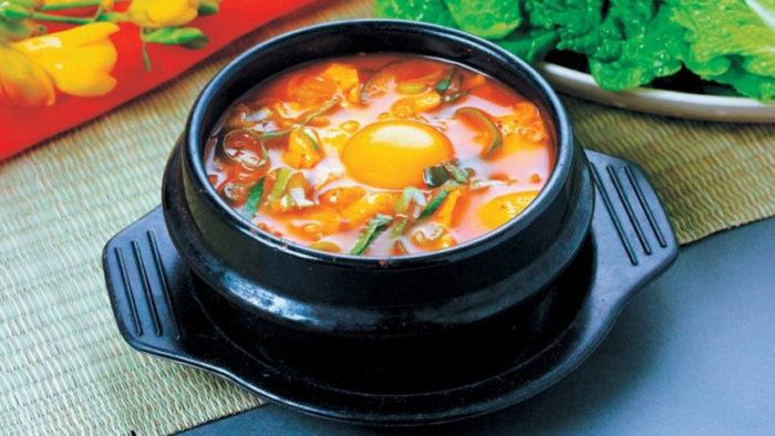 gambar makanan korea sundubu jjigae