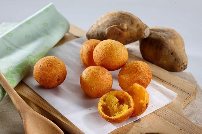 gambar makanan kekinian Bola Ubi