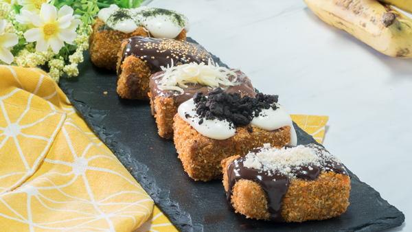gambar makanan kekinian Pisang Nuget