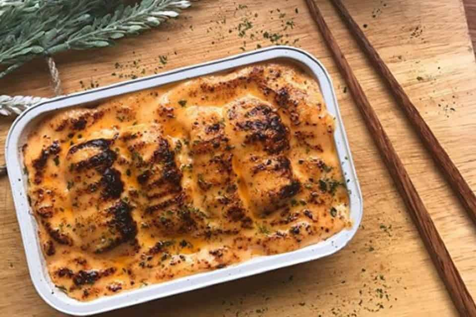 gambar makanan kekinian Salmon Mentai