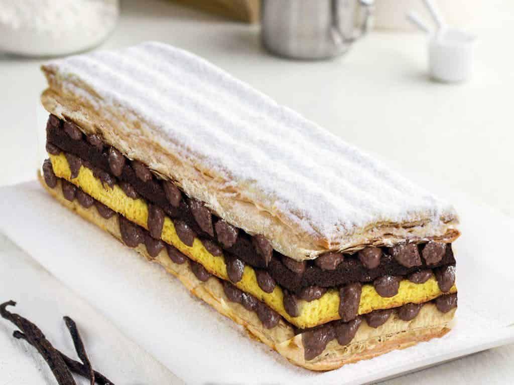 gambar makanan kekinian Surabaya Snow Cake