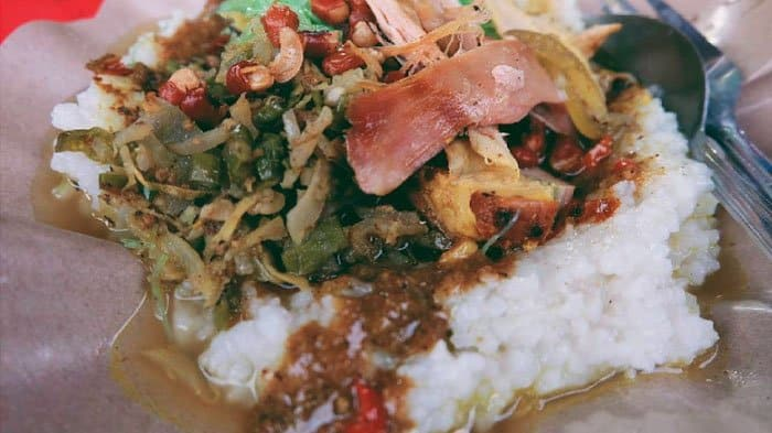 gambar makanan khas bali Nasi Tepeng