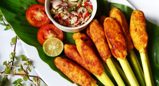 gambar makanan khas bali Sate Languan