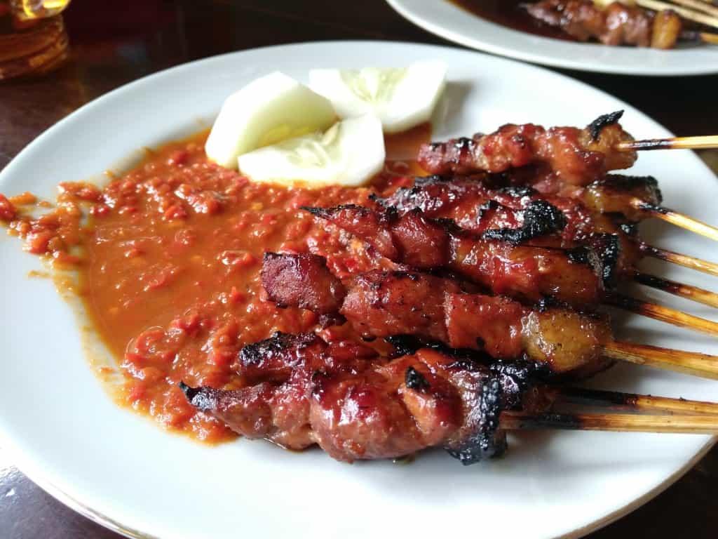 gambar makanan khas bali Sate Plecing