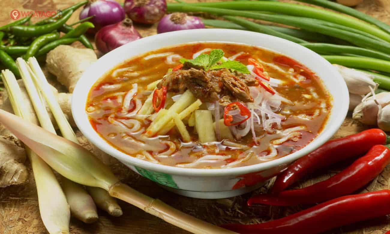gambar makanan khas bangka belitung Lakse
