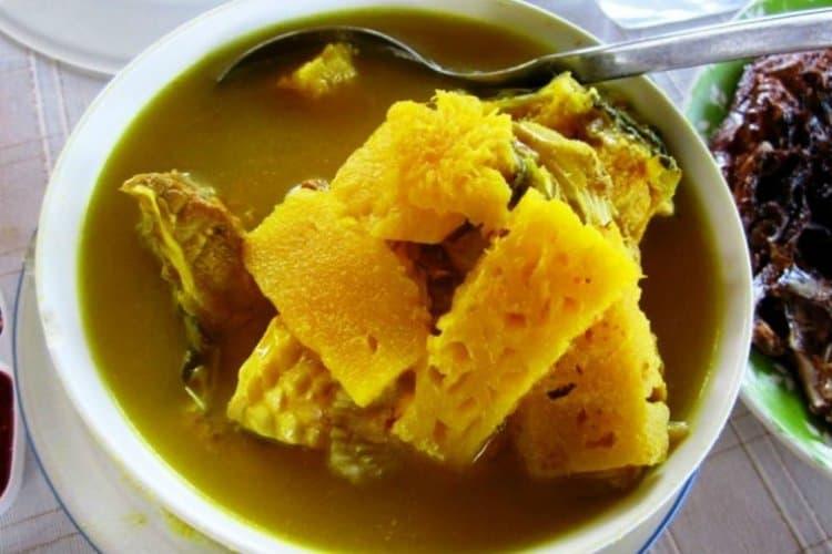 gambar makanan khas bangka belitung Sup Gangan