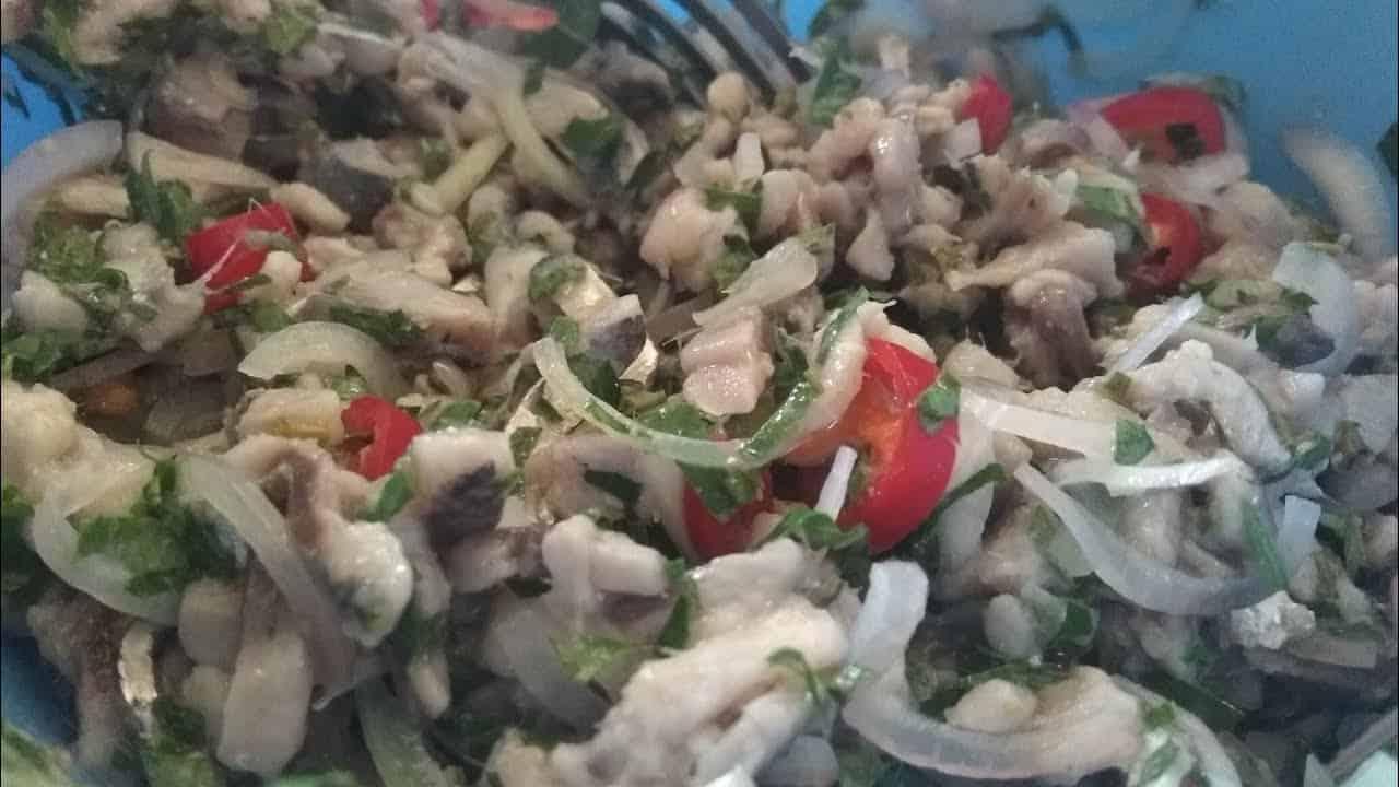 gambar makanan khas ntt Lawar Ikan