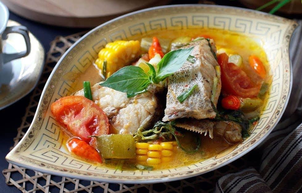 gambar makanan khas ntt Sup Tuna Kuah Asam