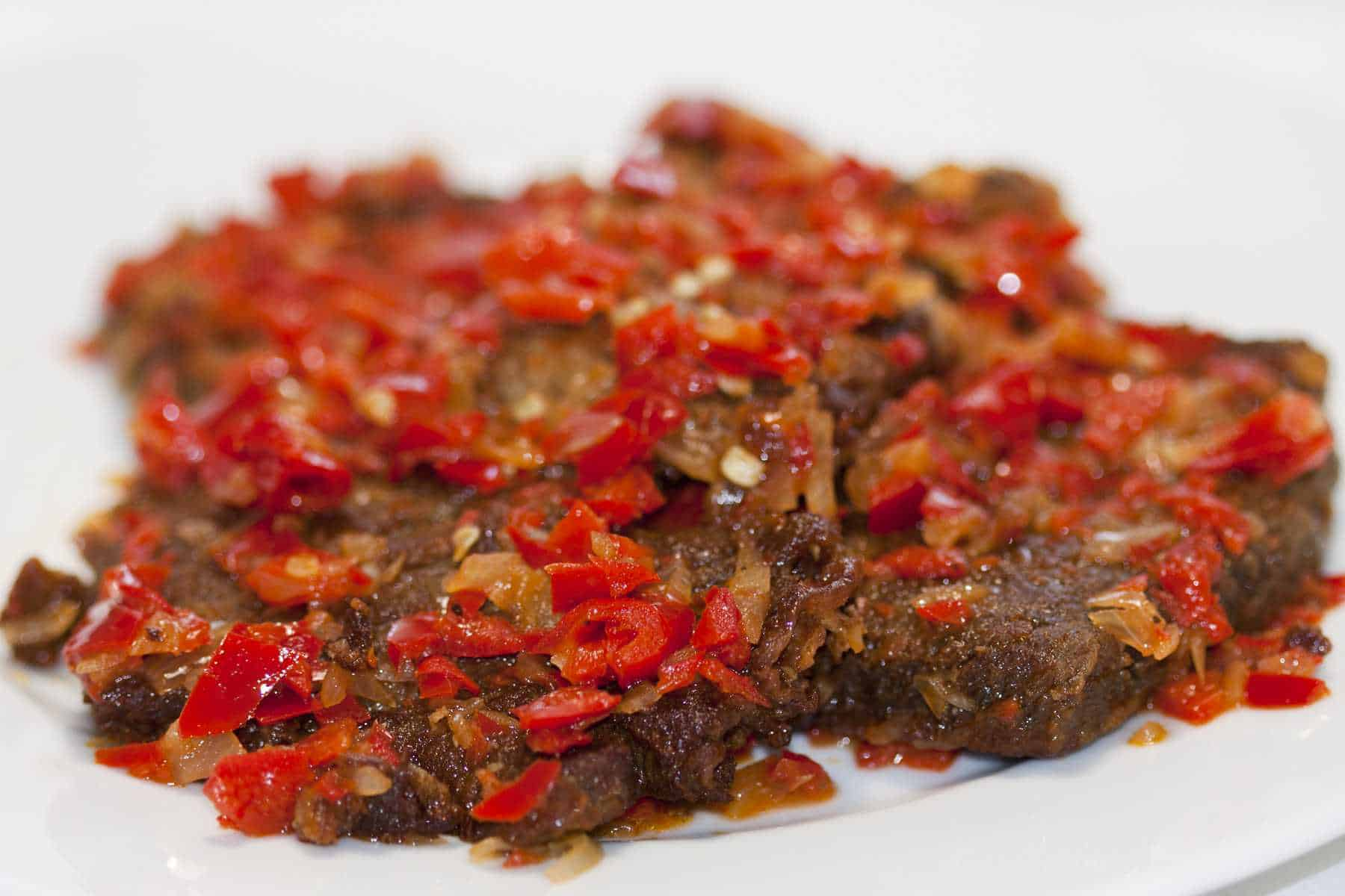 gambar makanan khas sumatera barat Dendeng Batokok
