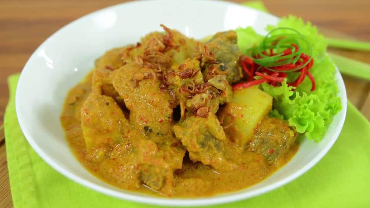 gambar makanan khas sumatera barat Kalio Dagiang
