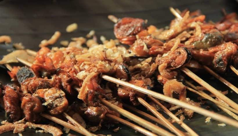 gambar makanan khas sumatera barat Sate Lokan