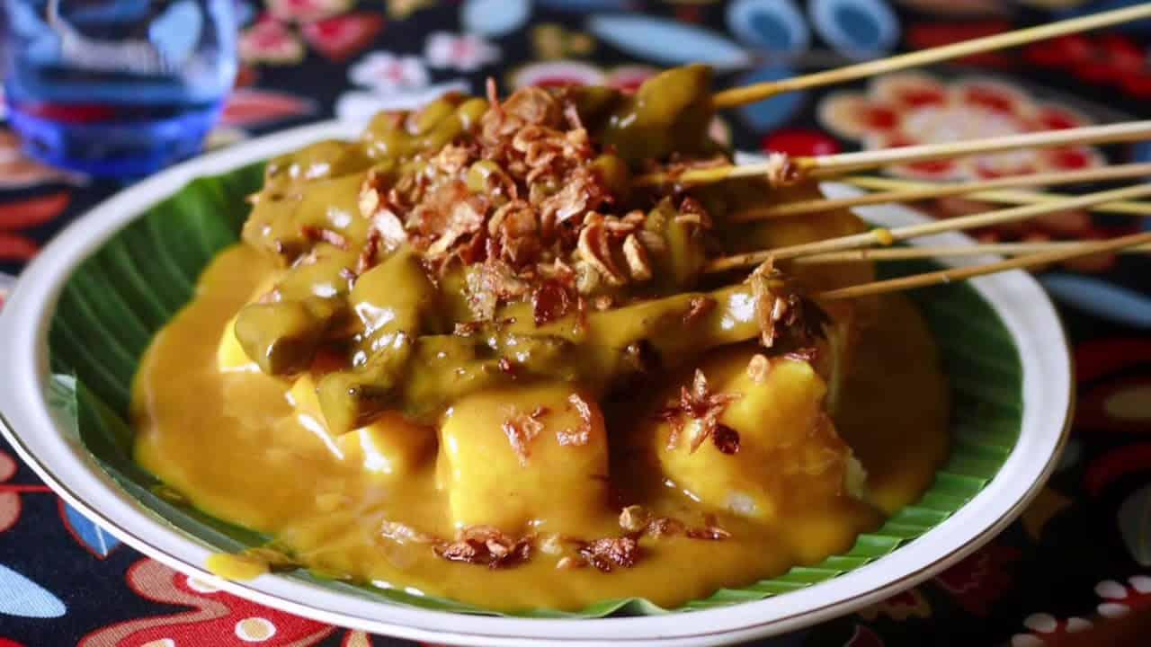 gambar makanan khas sumatera barat Sate Padang