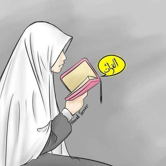 Gambar Kartun Muslimah Sholehah
