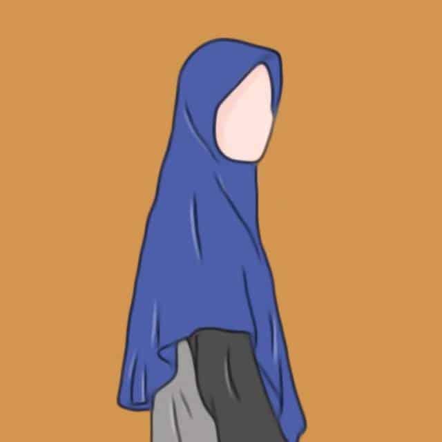 Gambar Kartun Muslimah Tanpa Wajah
