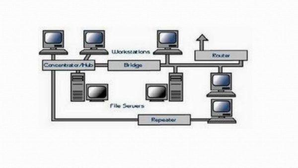 gambar topologi linear