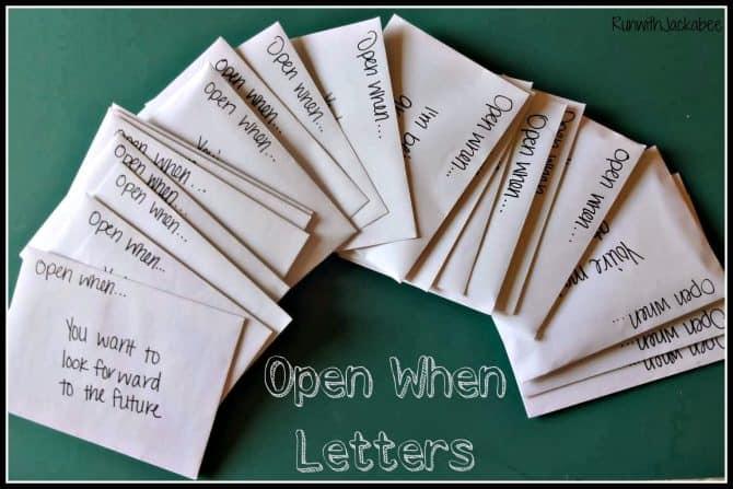 open when letter