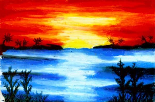 Gambar Pemandangan Alam di Senja Hari