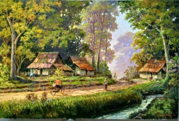 Gambar Pemandangan Suasana Alam Pedesaan yang Asri